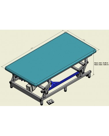 Table Bobath electrique 2M X 1 M