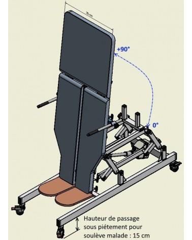 Table de verticalisation top niveau debrayable