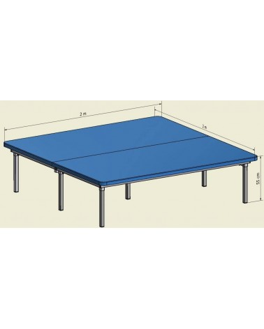 Table Bobath Fixe 2 M x 2 M