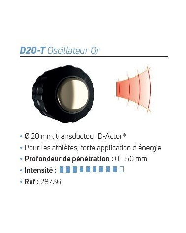 Transducteur D-Actor® D20-T Oscillateur Or