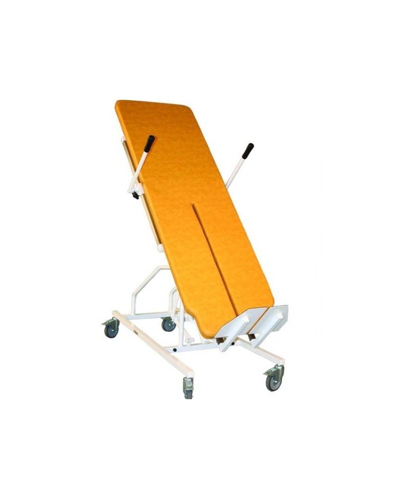 Table de verticalisation éléctrique à hauteur fixe et rainure centrale