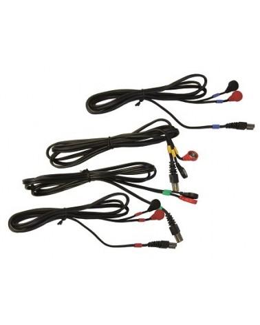 Jeu de 4 câbles pour électrodes à SNAP 6P